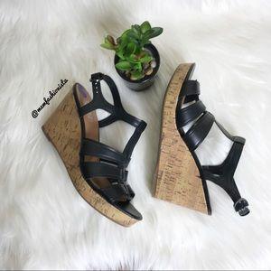 FRANCO SARTO- Cork Wedge Sandals